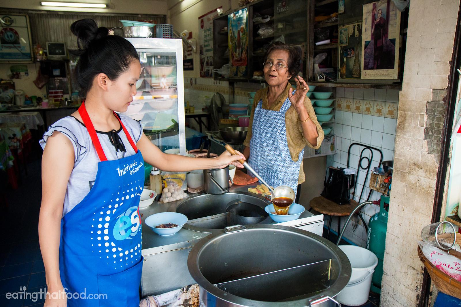 Thai boat noodles in Bangkok