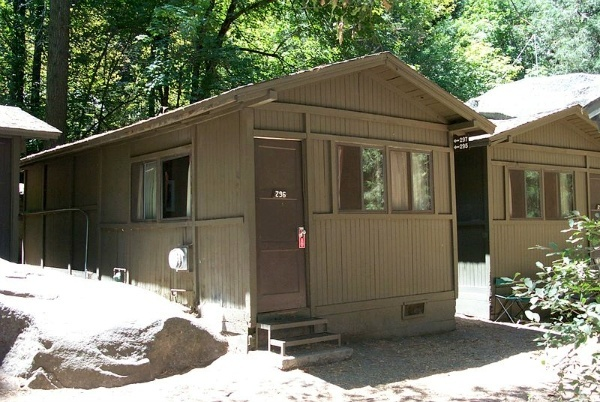 Curry Village Yosemite Wooden Duplex Cabin