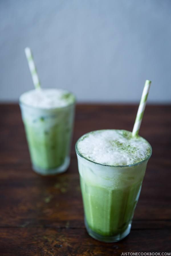 Iced Green Tea Latte   JustOneCookbook.com