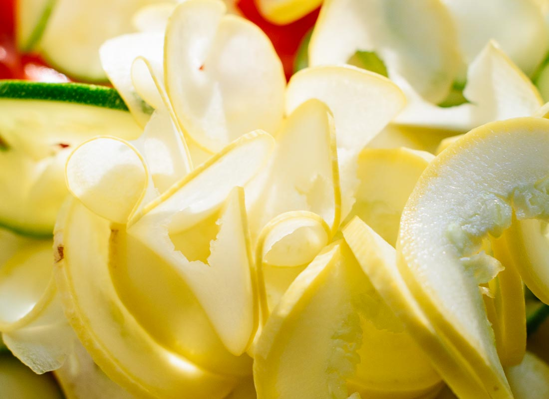 spiralized yellow squash