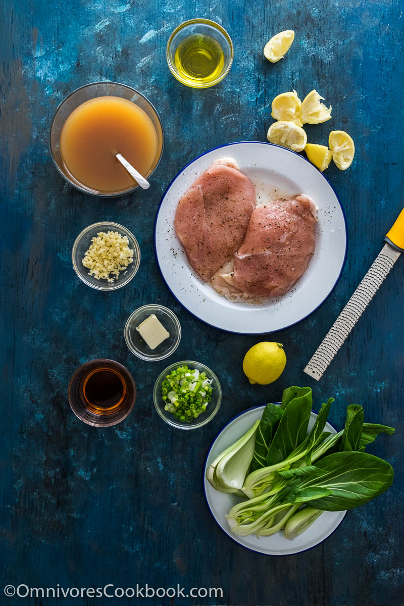 Chinese Chicken Piccata Mise en Place