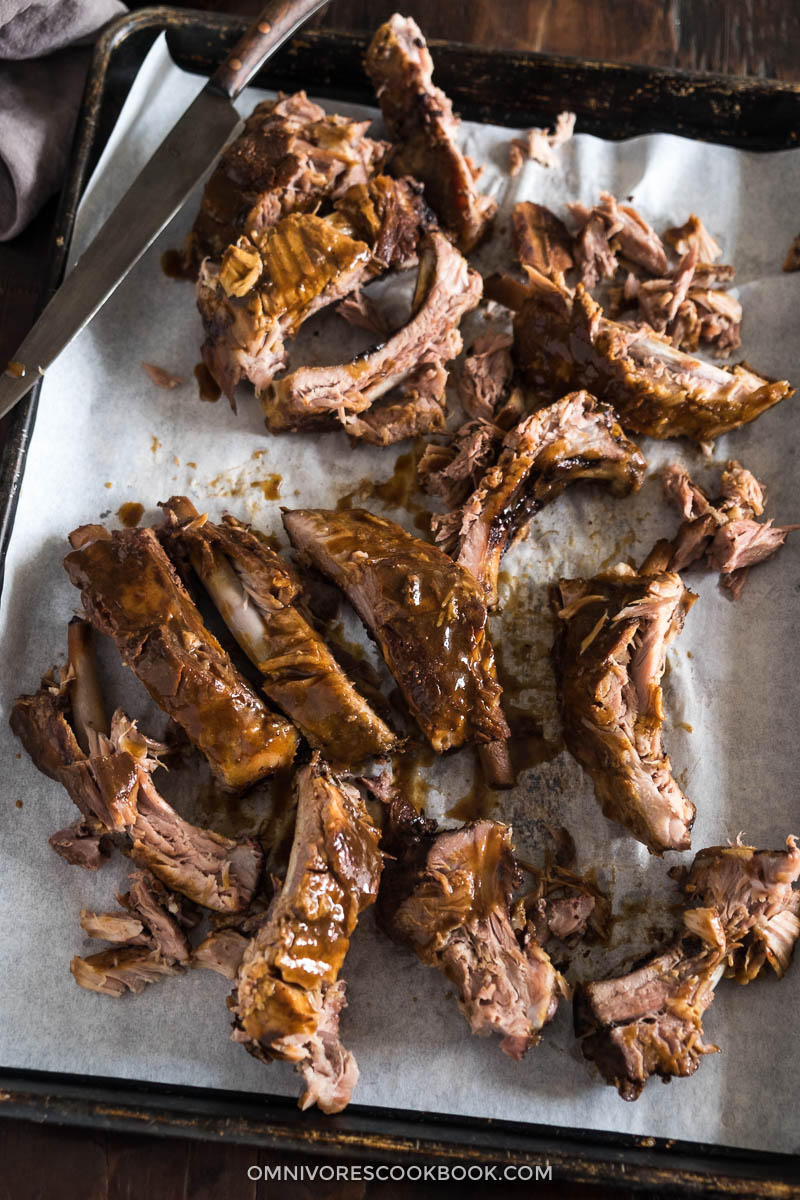 Make these fall-off-the-bone ribs with a scrumptious BBQ sauce in slow cooker with 15 minutes active cooking time!