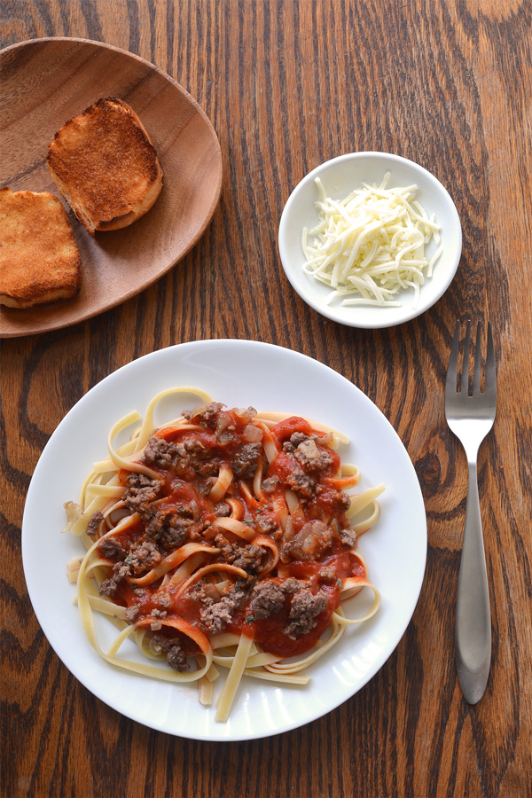 Beefy tomato sauce pasta spaghetti fettuccine good food channel pasta and sauce 1 forumfinder Images