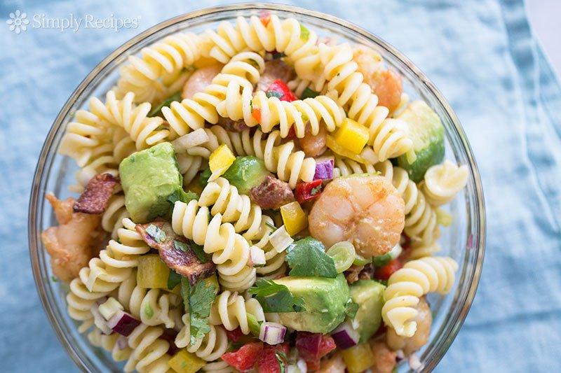 Shrimp bacon avocado pasta salad good food channel delicious shrimp bacon avocado pasta salad forumfinder Gallery