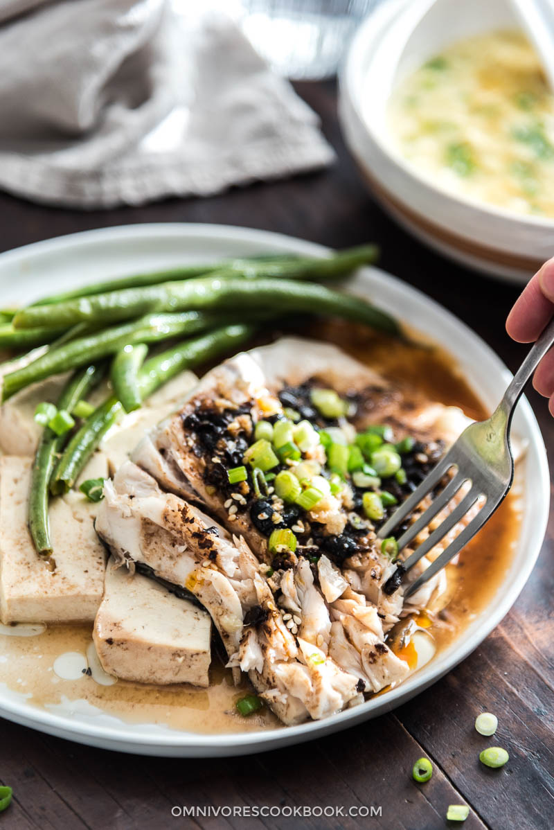 Steamed fish with black bean sauce plus baked version for Whole foods fish sauce