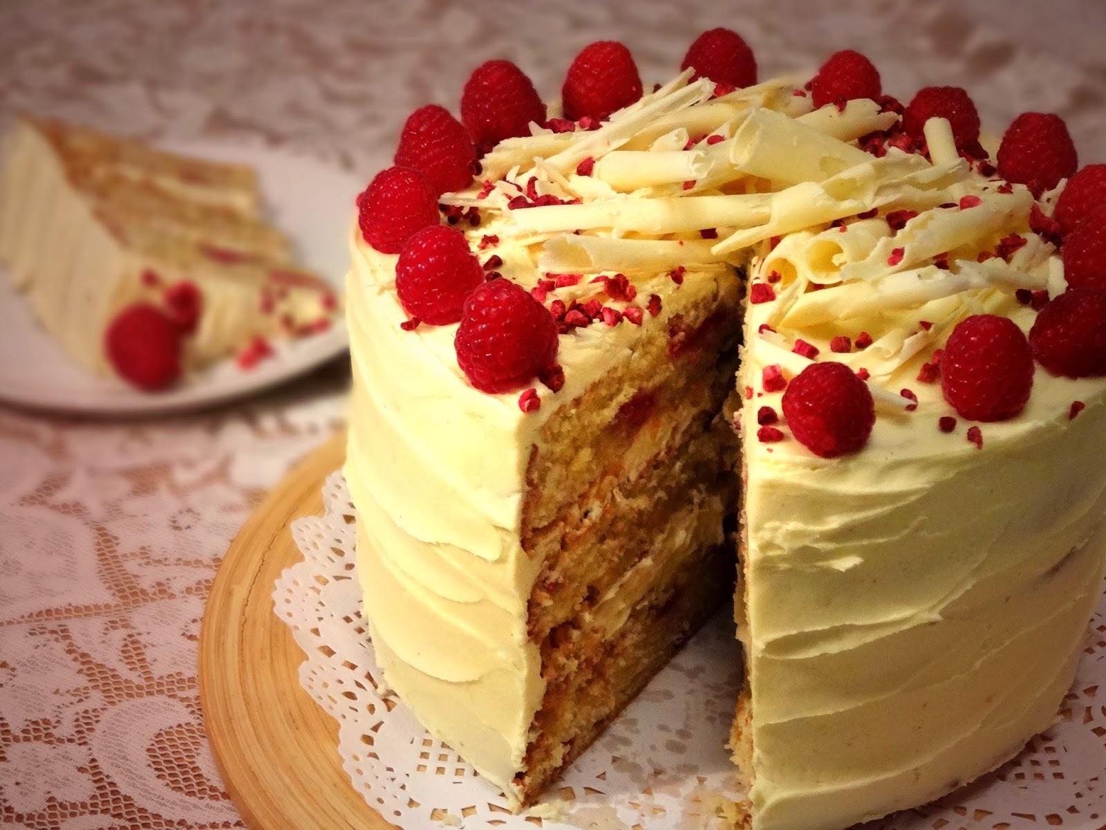 Good Food White Chocolate And Raspberry Cake