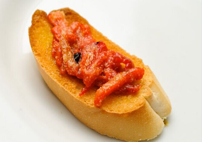 Red Pepper and Feta Bruschetta Recipe foto