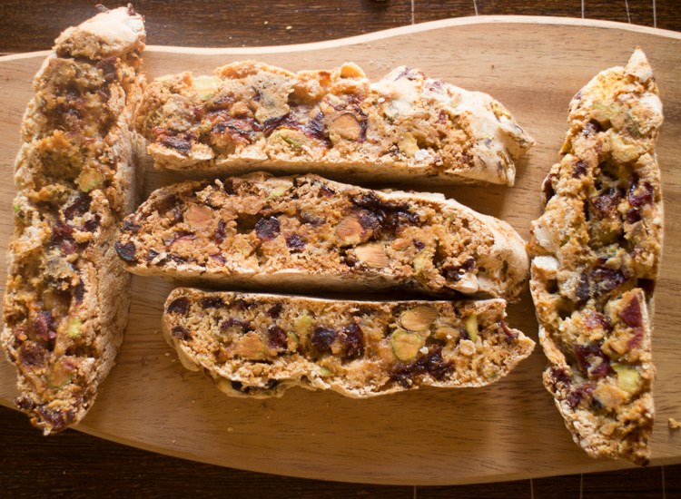 The Methods Of Homemade Cherries and pistachios Biscotti