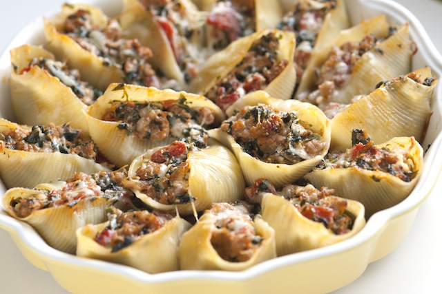 Italian Healthy Recipe Stuffed Shells Recipe