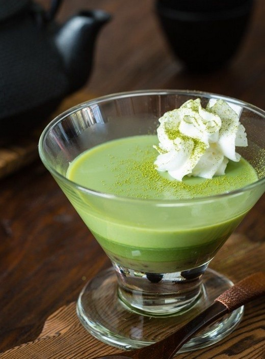Green Tea Pudding 抹茶プリン
