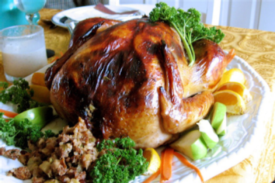 Roast Turkey With Sage, Onions, And Giblet Gravy