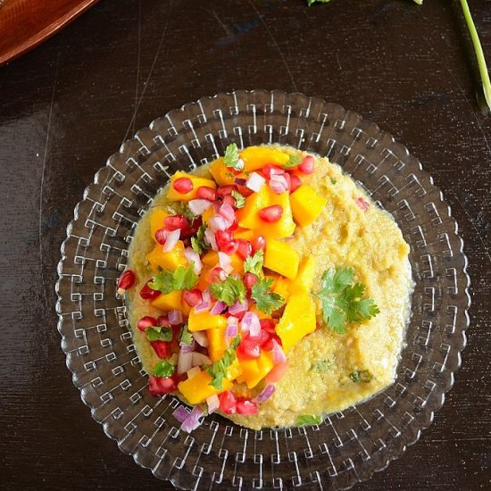 Indian Food : Mango Pomegranate & Tender Coconut Salsa