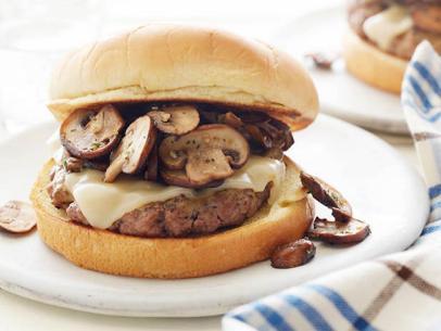 Mustard-Glazed Mushroom Burger