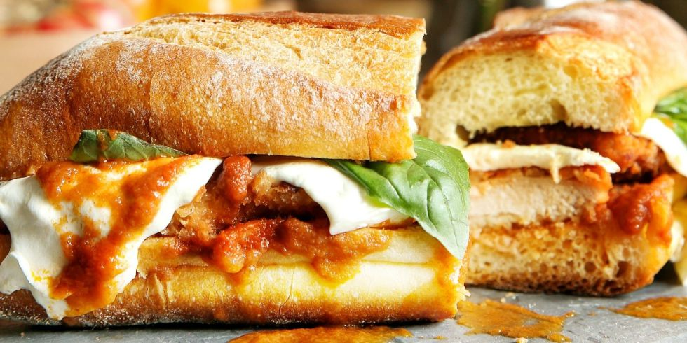 Recipe of chicken parm sub good food channel delicious healthy chicken parm sub forumfinder Images
