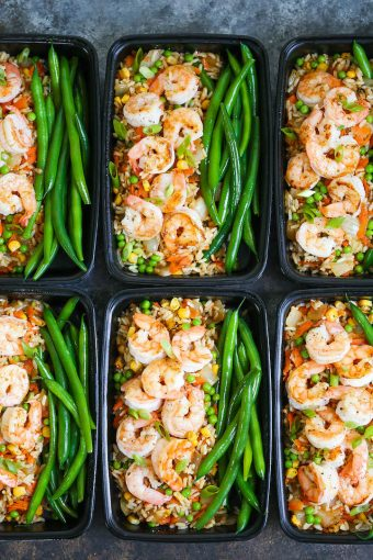 How to make shrimp fried rice meal prep good food channel shrimp fried rice meal prep forumfinder Images