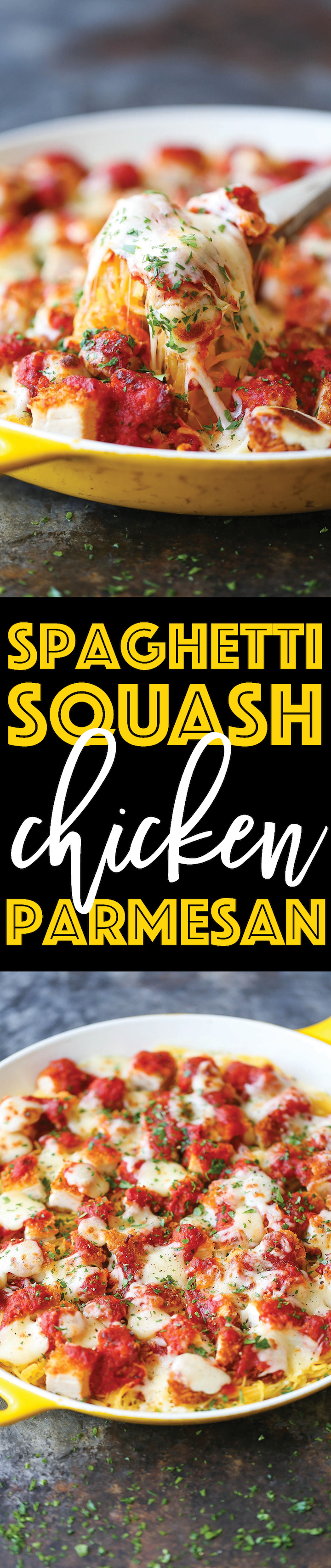 Spaghrtti Squash Chicken Parmesan