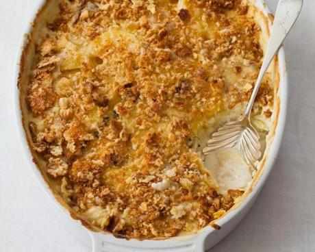 01easter - Recipe for scalloped potatoes by Sally Pasley Vargas. (Sally Pasley Vargas for The Boston Globe)