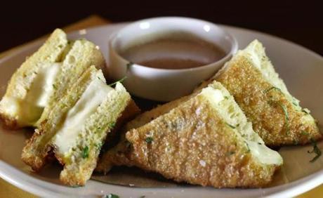 Grilled mozzarella sandwiches.