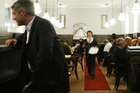 06travberlin - Dining room of Gasthaus Renger-Patzsch, Berlin, Germany. (handout)