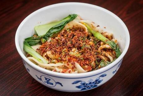 Spicy hand-pulled noodles.