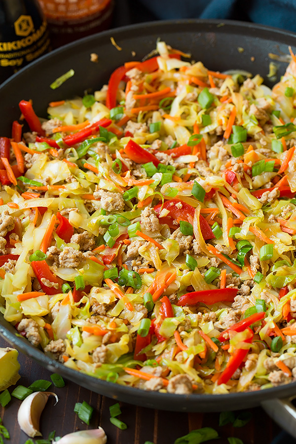 Egg Roll Skillet   Cooking Classy