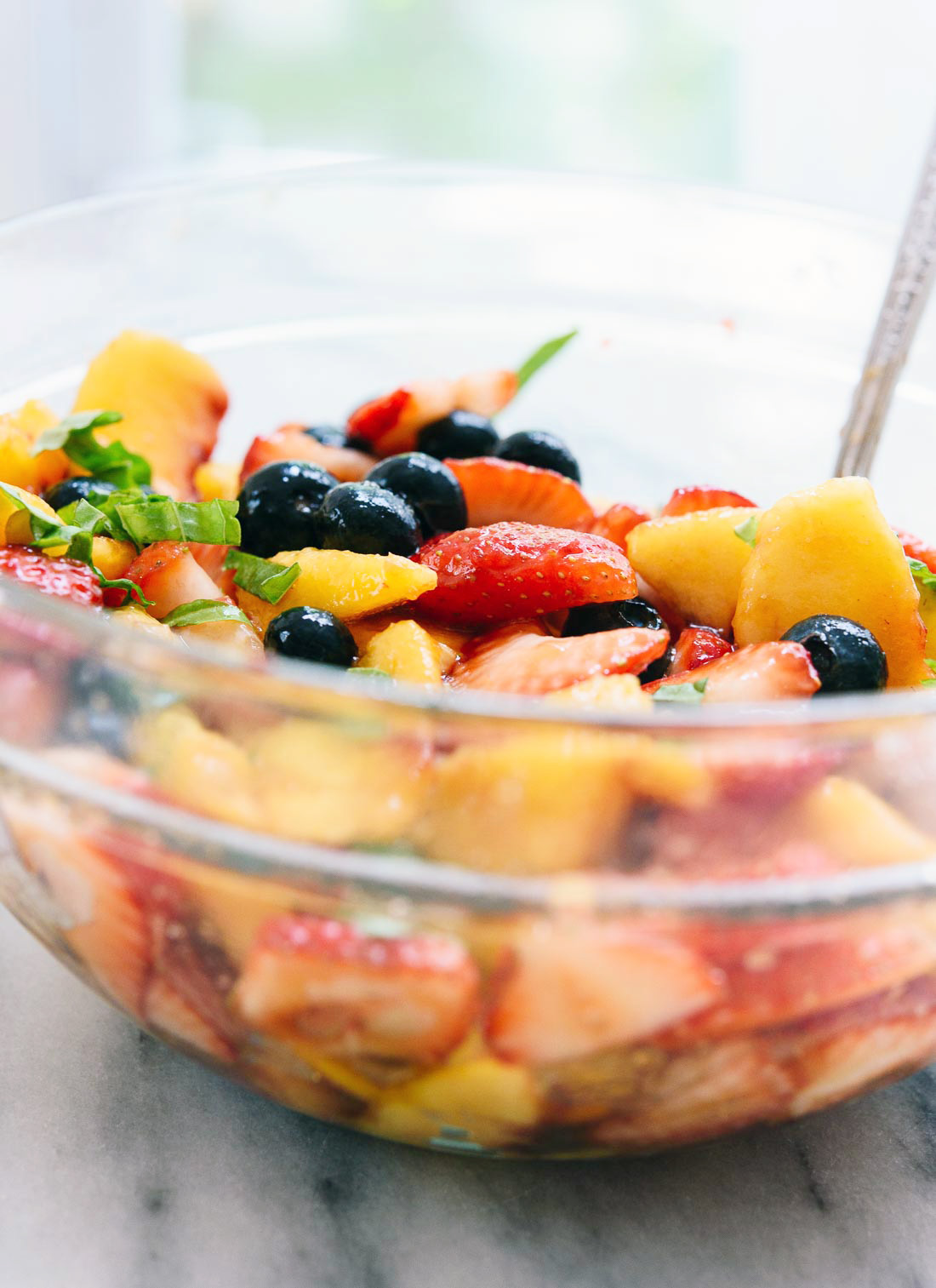 This summertime fruit salad recipe is super quick and easy to make - cookieandkate.com