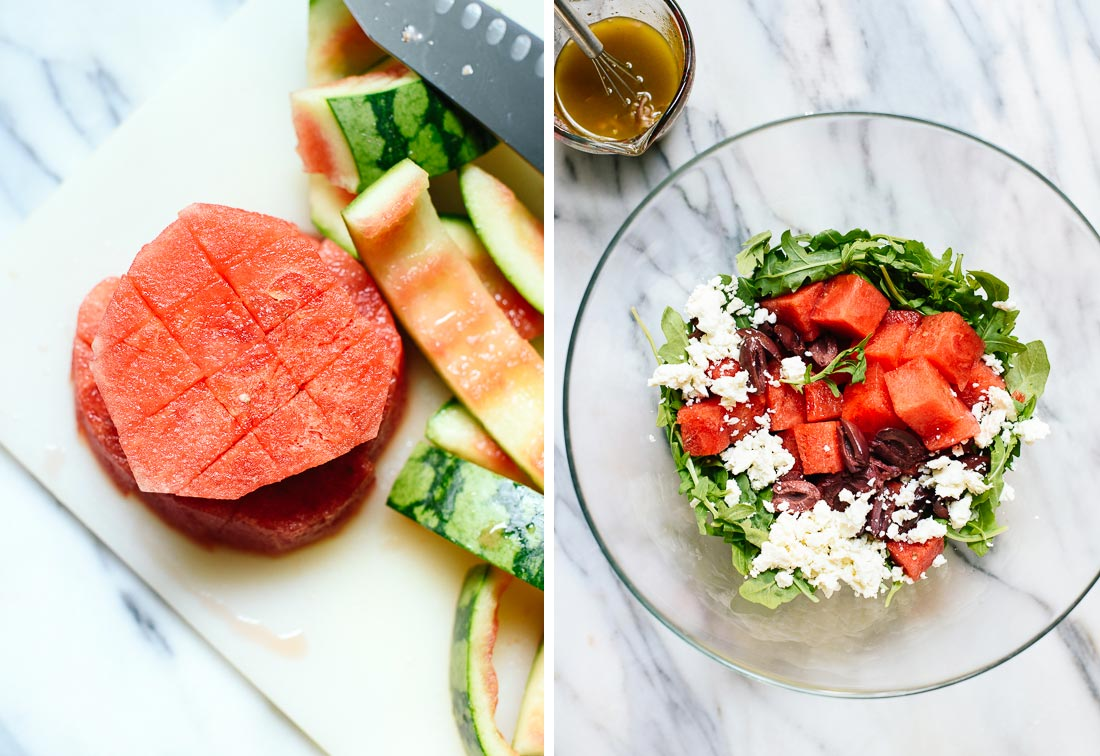 how to make watermelon salad