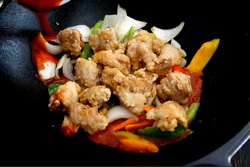 Sweet and Sour Chicken Cooking Process