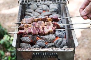 Xinjiang Lamb Skewers Cooking Process
