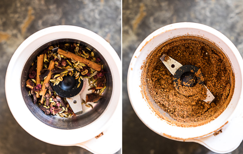 Five spice powder cooking process