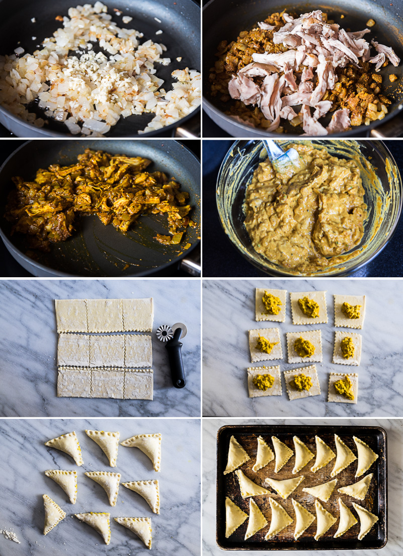 Thanksgiving Leftover Curry Puffs Cooking Process