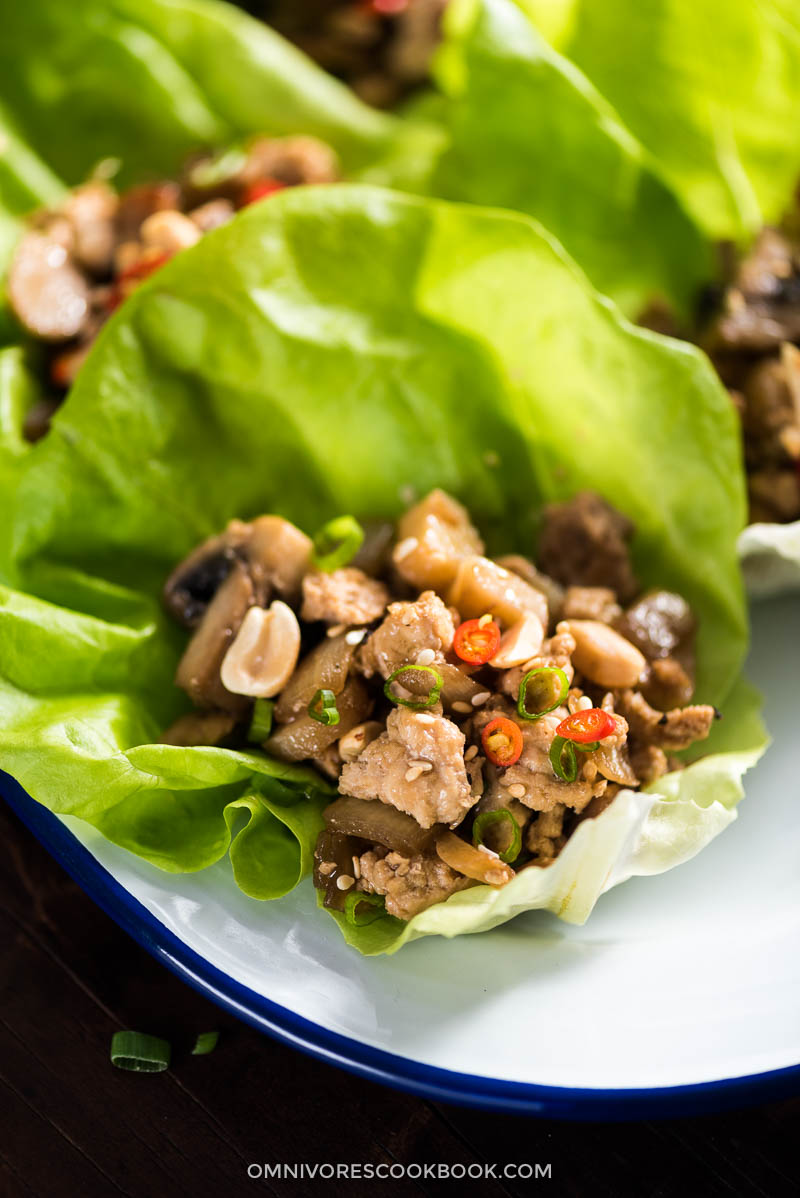 Easy Chicken Lettuce Wrap