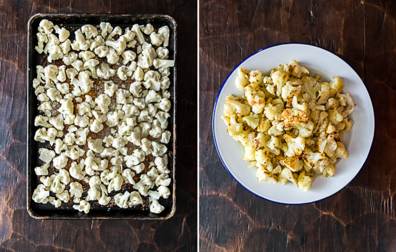 How to roast frozen cauliflowers and get them crispy