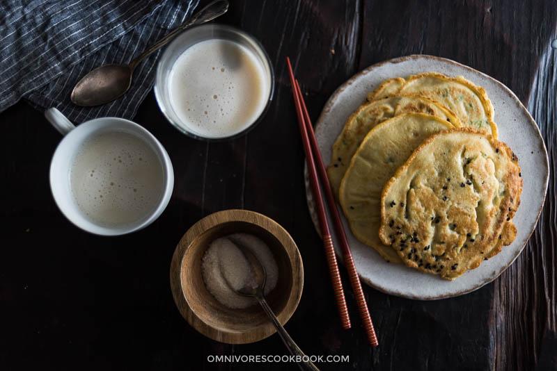 Homemade Soy Milk and Okara Pancakes