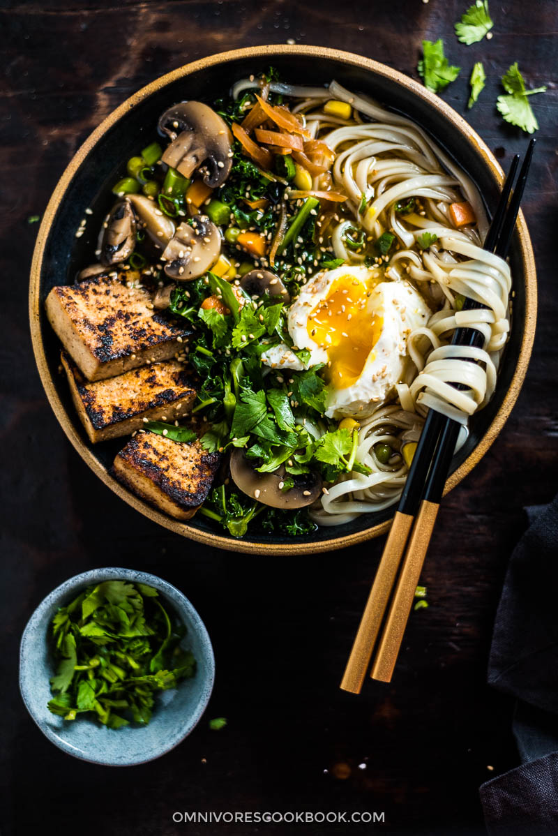 Chinese Vegetarian Noodle Soup (中式素汤面) | Vegan Adaptable | Gluten Free Adaptable | Asian Food