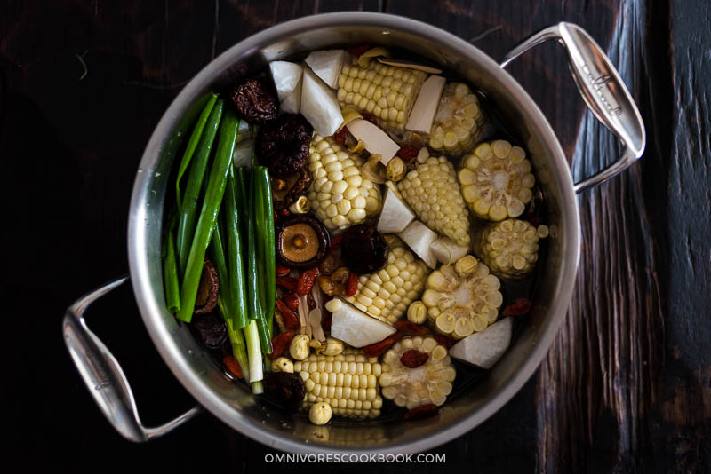 Detox Herbal Vegetable Broth Cooking Process