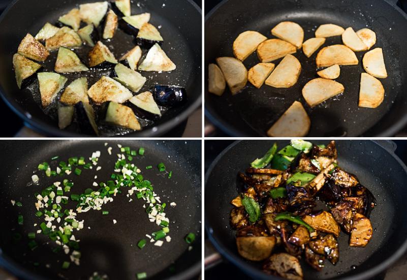 Di San Xian Cooking Process