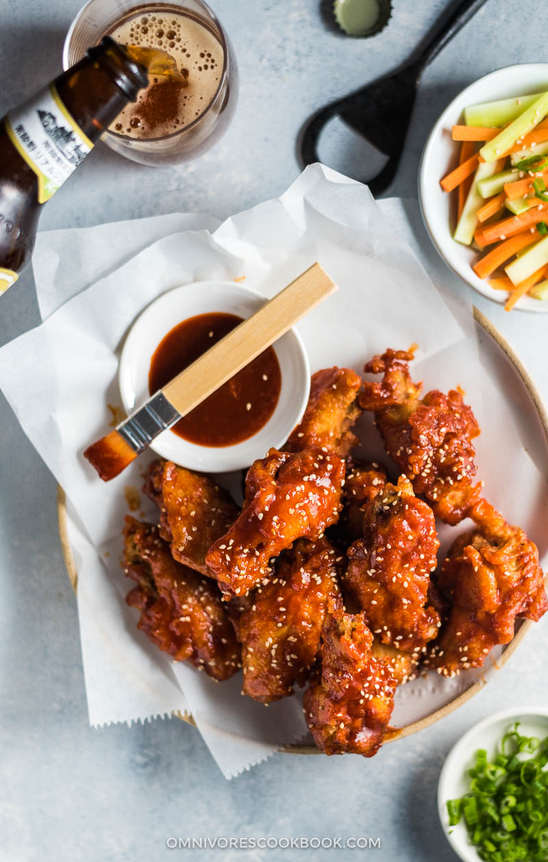 Fried Chicken Wings in Asian Hot Sauce (Crispy Even When Chilled!)   Gluten Free   Game Day   Party   Appetizer