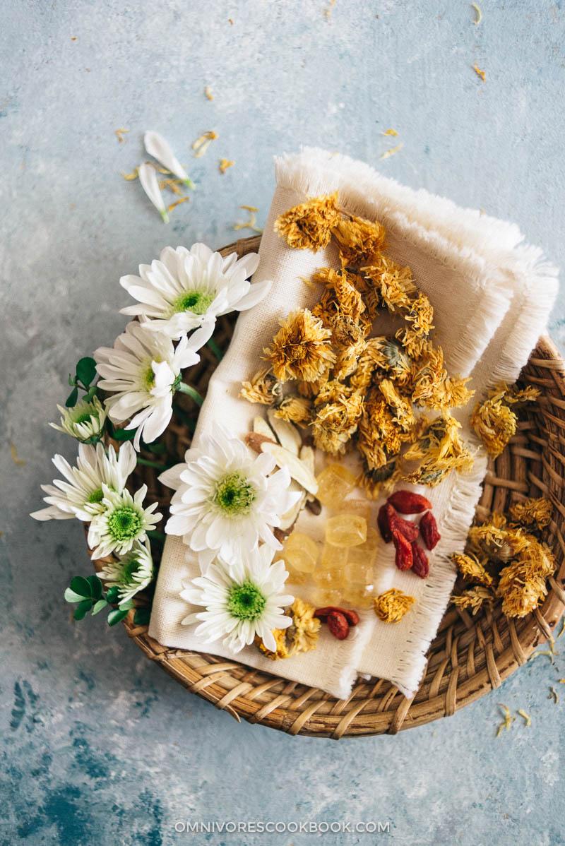 Herbal Chrysanthemum Tea (菊花茶) - Good Food Channel - Delicious Healthy Food : Chinese Mexican