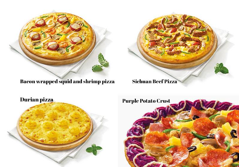 Weird Chinese Pizza Hut Pizzas