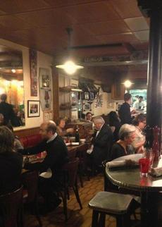 At L'Ami Jean, patrons dine.