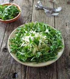 Spring celery-arugula salad