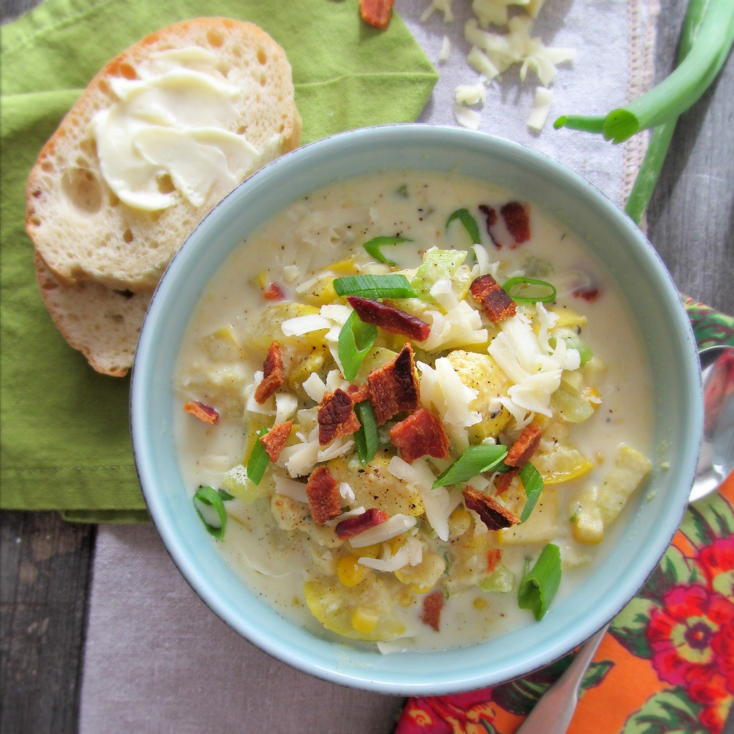 Golden Summer Squash and Corn Soup
