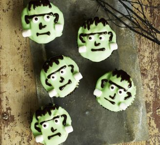 Homemade Frankenstein cupcakes