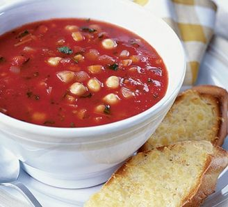 Fall vegetable soup with cheesy toasts