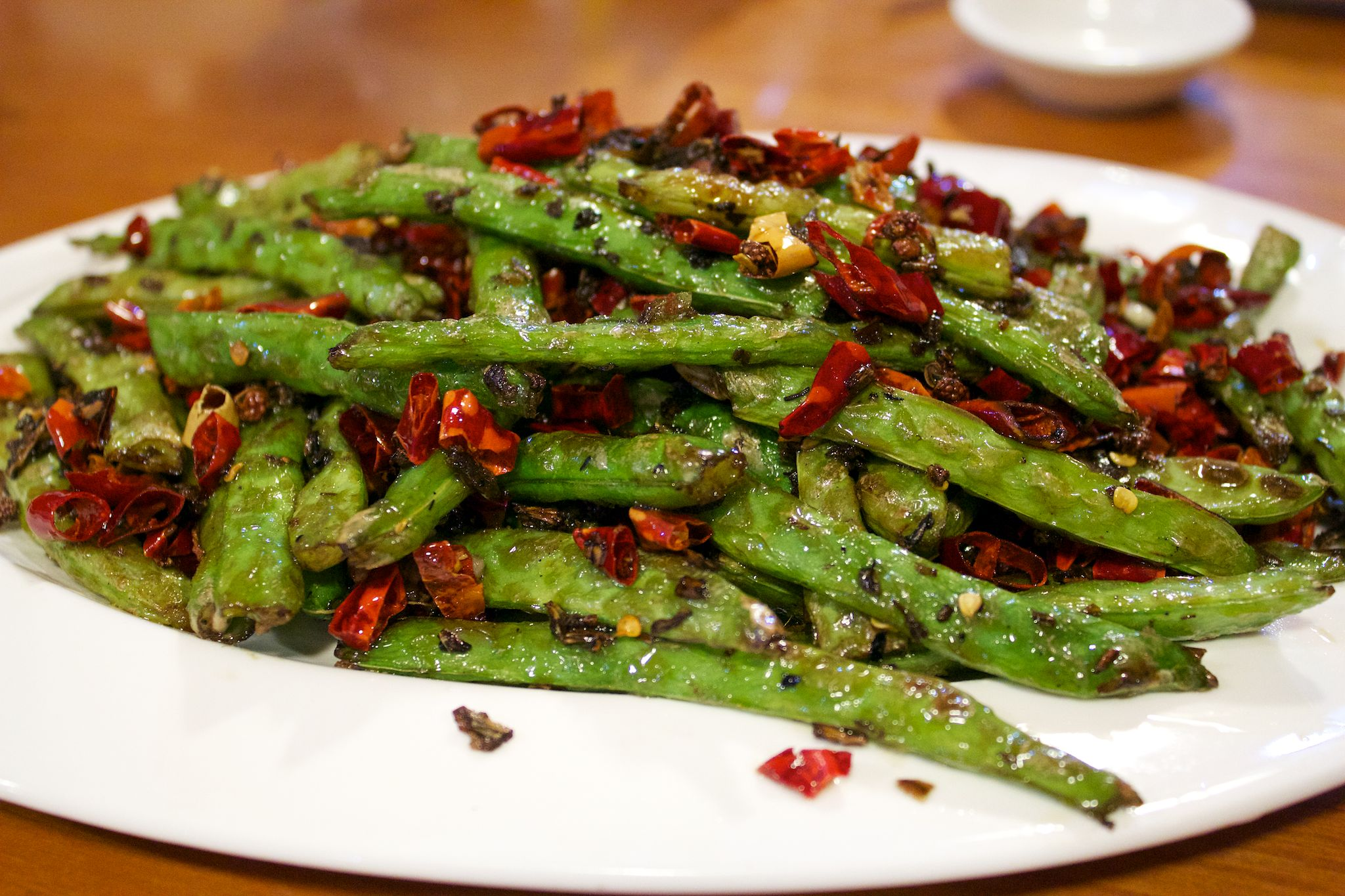 Sichuan cuisine—Gan Bian Si Ji dou
