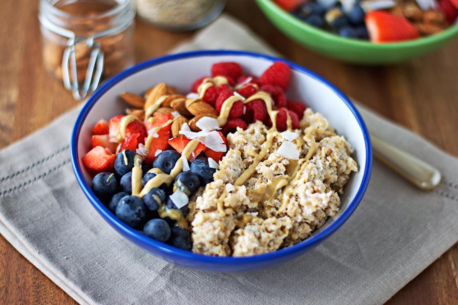 Fruit & nut breakfast bowl