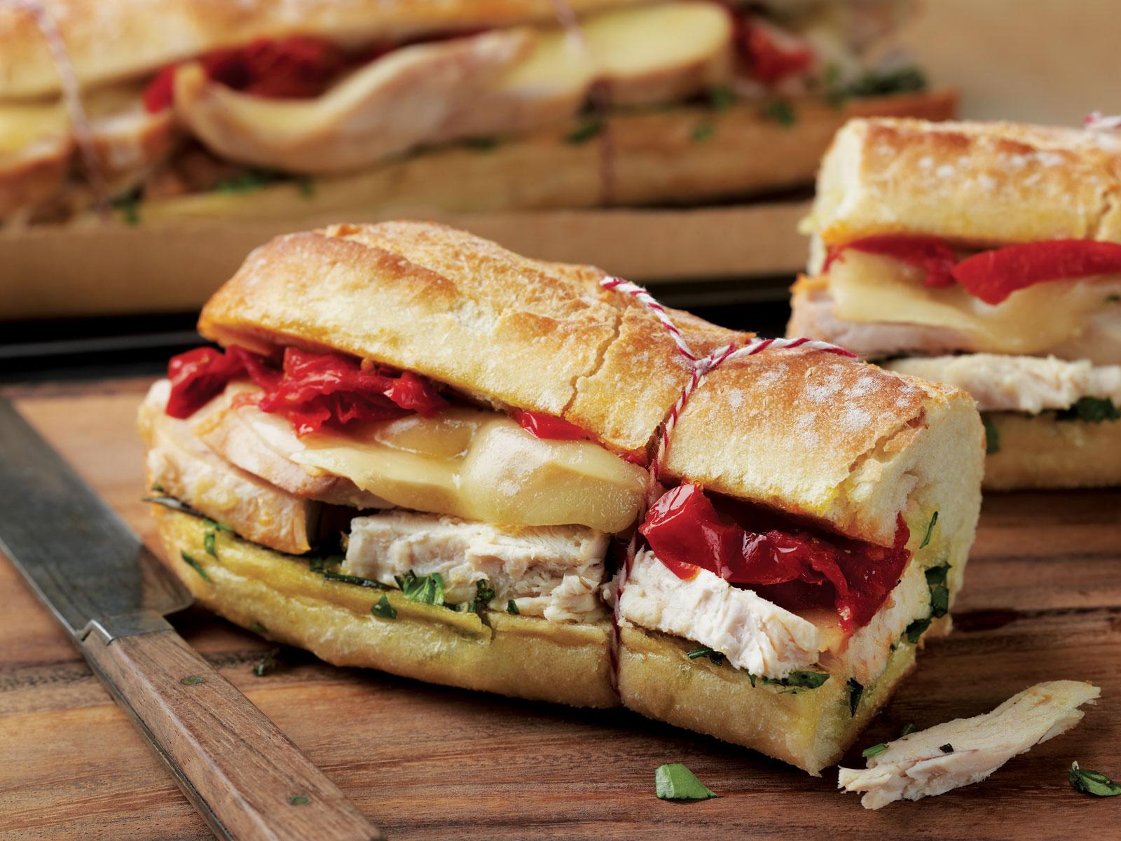 Cooking Recipe :Warm Tuscan Chicken Sandwich
