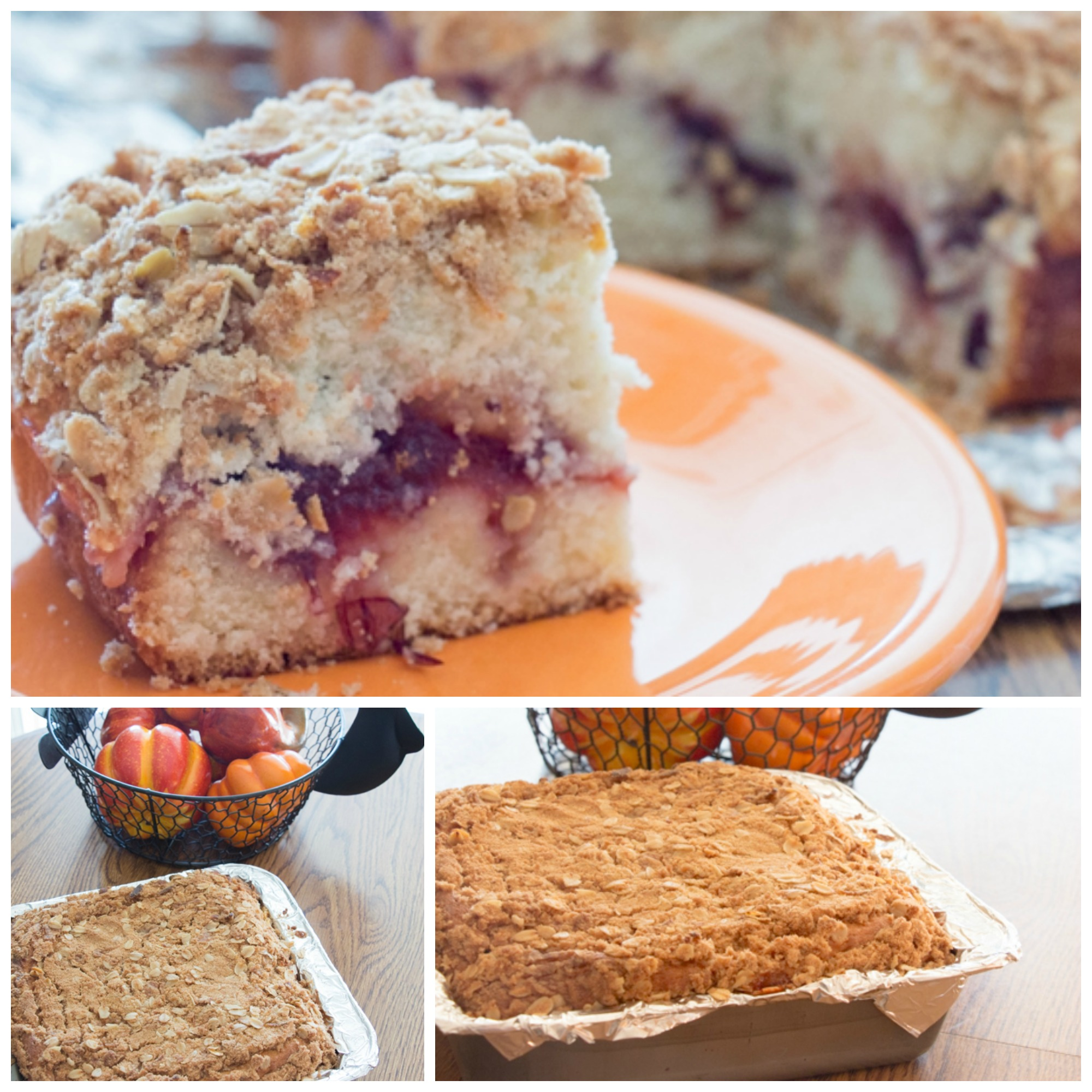 The Way Of Making A Red-Grape Coffee Cake