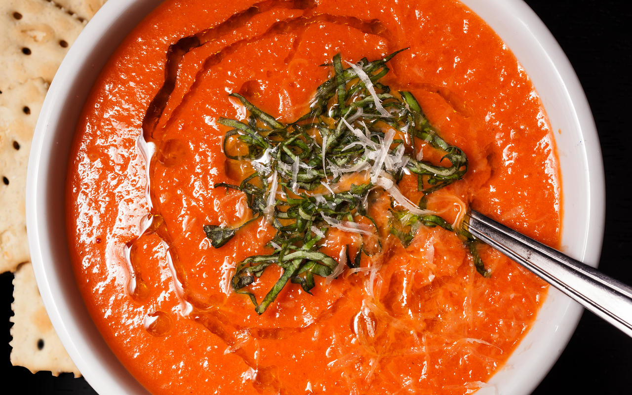 The Steps To Creamy Tomato Soup with Honey